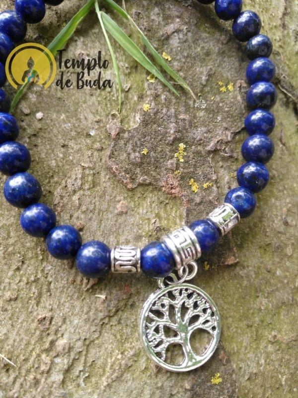 Pulseira Lápis Lazuli com Árvore da Vida