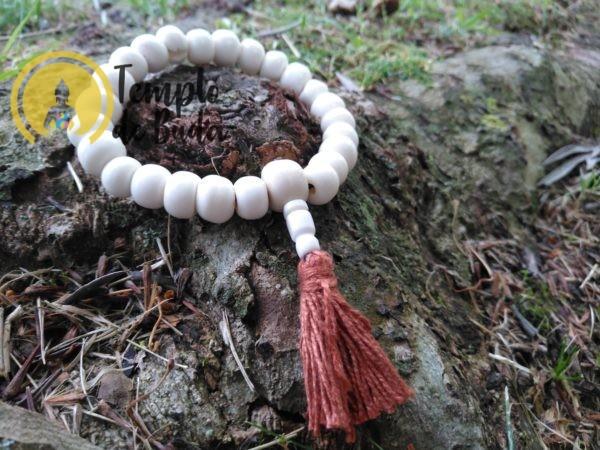 pulseira Antiga Tibetana de Cura Branco